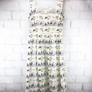 Boden Sailboat Hattie Cotton Dress with Pockets